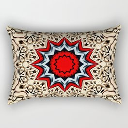 Twelve Points Mandala Rectangular Pillow