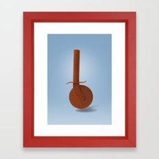 Pizza knife and paprika Framed Art Print