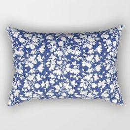 beach rose indigo Rectangular Pillow
