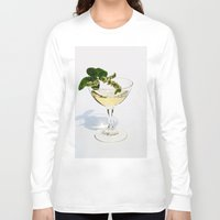 martini Long Sleeve T-shirts featuring  Peppermint Martini by Guna Andersone & Mario Raats - G&M Studi
