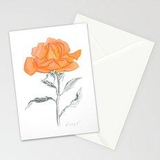Rose 02 Botanical Flower * Yellow Orange Rose: Love, Honor, Faith, Beauty, Devotion & Wisdom Stationery Cards