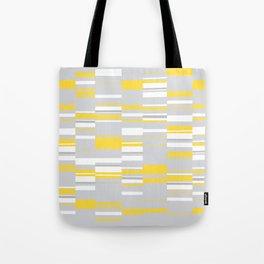 Mosaic Rectangles in Yellow Gray White #design #society6 #artprints Tote Bag