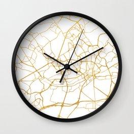 FRANKFURT GERMANY CITY STREET MAP ART Wall Clock