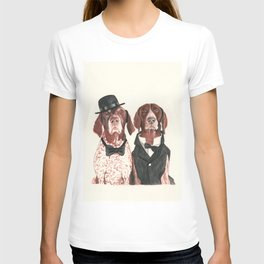 german short hair pointers - F.I.P. @ifitwags (The pointer brothers) T-shirt