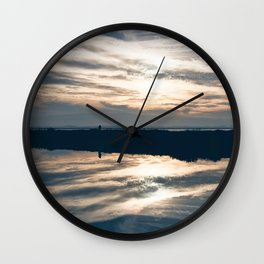 BLUE MOON XII / Alviso, California Wall Clock