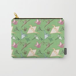 Paper cranes playful origami pattern Carry-All Pouch