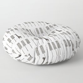 Piano Forest Floor Pillow