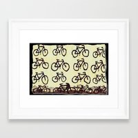 bicycles Framed Art Prints featuring Bicycles by Art & Fantasy by LoRo