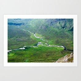 Highland Mountain Rivers Art Print