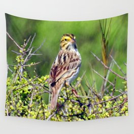 Savannah Sparrow Wall Tapestry