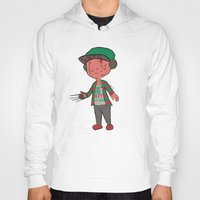 freddy krueger Hoodies featuring Horror Hipsters - Freddy Krueger by Duddy In Motion