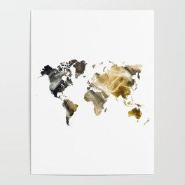 Sandy world map Poster