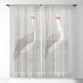 Brolga, Bird of Australia Sheer Curtain