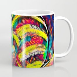 1349s-MAK Abstract Pop Color Erotica Explicit Psychedelic Yoni Buns Coffee Mug