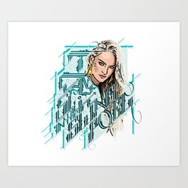 I want to swim in the Swanepoel Art Print