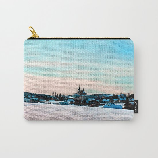 Village scenery in winter wonderland Carry-All Pouch