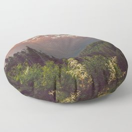 Mountain Sunset Bliss - Nature Photography Floor Pillow