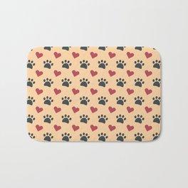 Dog paw heart Bath Mat