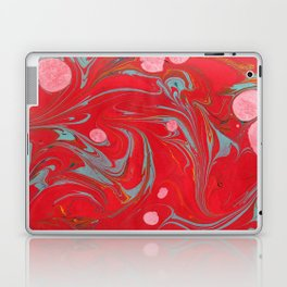 Red Marbled Laptop & iPad Skin