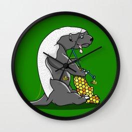 Honey Badger Knitting Wall Clock