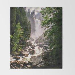 Yosemite Waterfall Throw Blanket