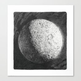 Moon Study, Saturn Canvas Print