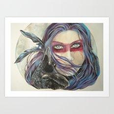 The Crow Keeper Art Print