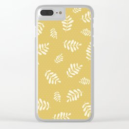 Falling Leaves – Gold Clear iPhone Case
