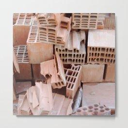 Broken Bricks Composition Metal Print
