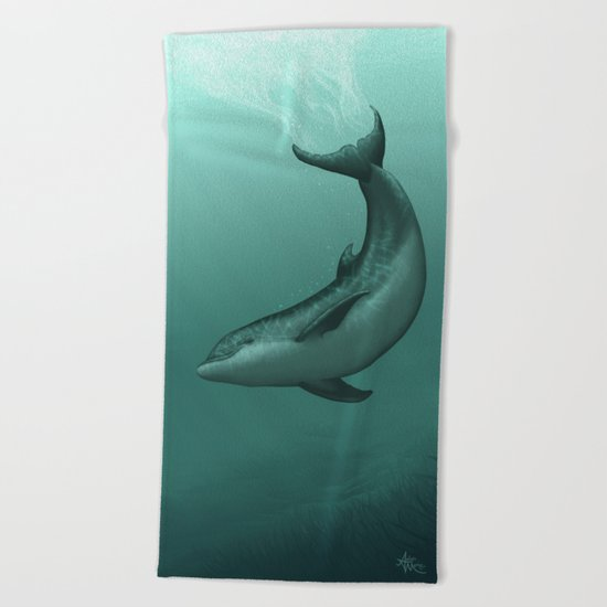 Siren of the Lagoon ~ Dolphin Beach Towel