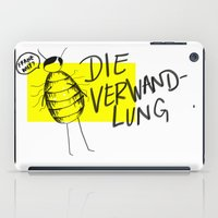 kafka iPad Cases featuring Franz, Why? by Jeni Abercrombie