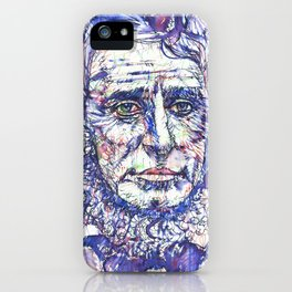 HENRY DAVID THOREAU watercolor and ink portrait iPhone Case