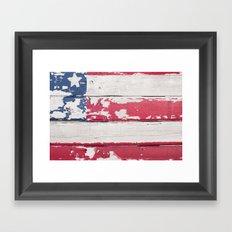 FENCE FLAG Framed Art Print