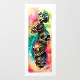 Colorful Skulls Art Print