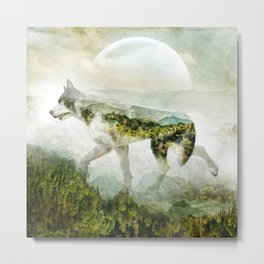 WOLF MOUNTAIN Metal Print