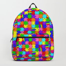 Autism Acceptance and Awareness Spectrum Rainbow Puzzle Pieces Backpack