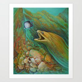 Naive Butterfly Art Print