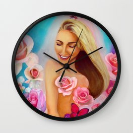 Rosy Glow Wall Clock
