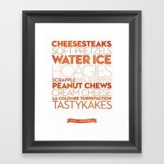 Philadelphia — Delicious City Prints Framed Art Print