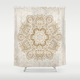 Mandala Temptation in Cream Shower Curtain