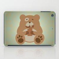 teddy bear iPad Cases featuring Teddy Bear by EinarOux