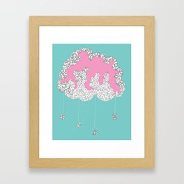 Cloudy Framed Art Print