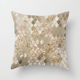 Mermaid Glitter Scales #5 (Faux Glitter) #shiny #decor #art #society6 Throw Pillow
