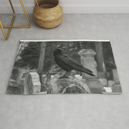 Crow In Shades Of Stone Rug