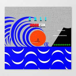 Bali Indonesia surfing design A Canvas Print