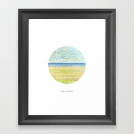 Feel the breeze Framed Art Print