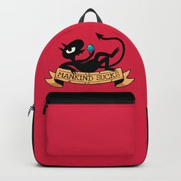 Mankind Sucks // Cartoon Demon, Funny, Sassy Backpack