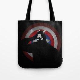 SuperHeroes Shadows : Captain America Tote Bag