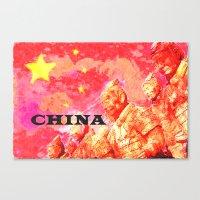 china Canvas Prints featuring China by Brian Raggatt