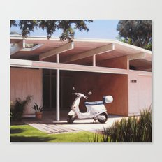 Eichler With Vespa Canvas Print